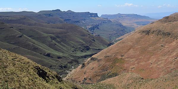 Paysage au Lesotho