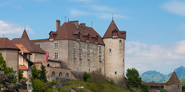 Le château de la ville de Gruyères