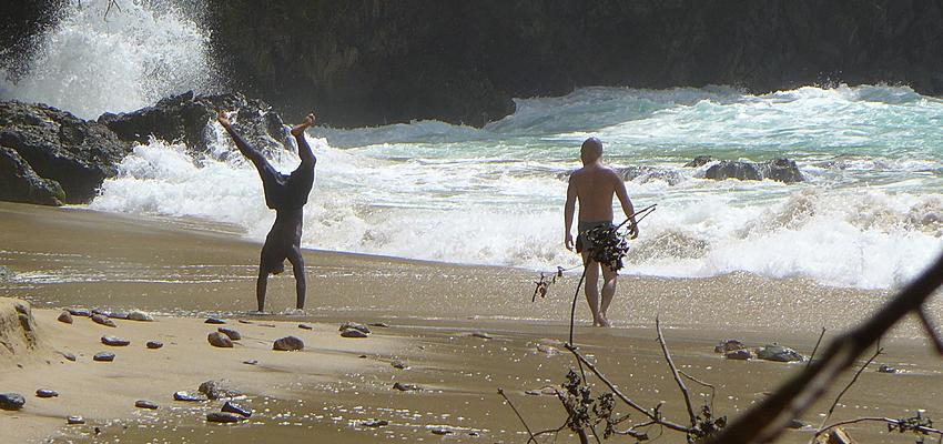 Jeux sur la plage de Tobago