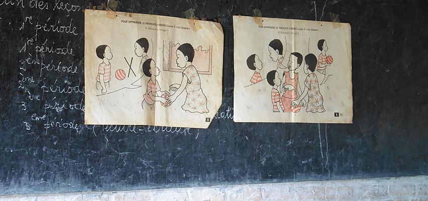 Cours de Kirundi à l'école primaire