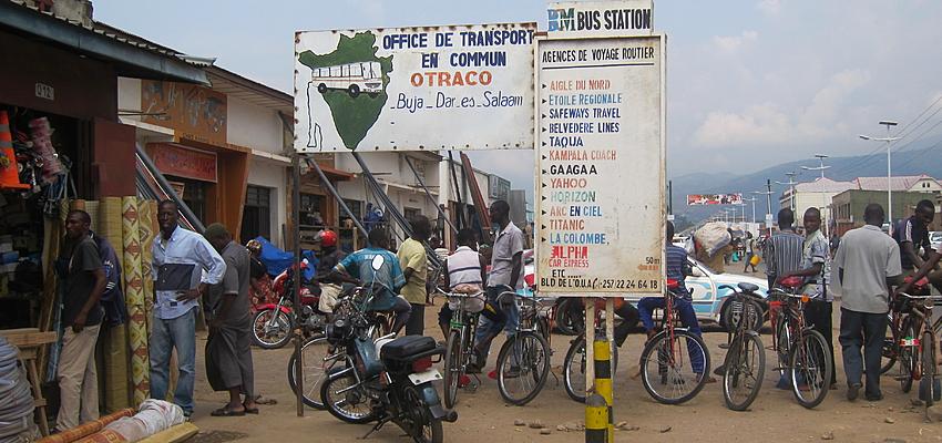 Gare de bus à Bujumbura