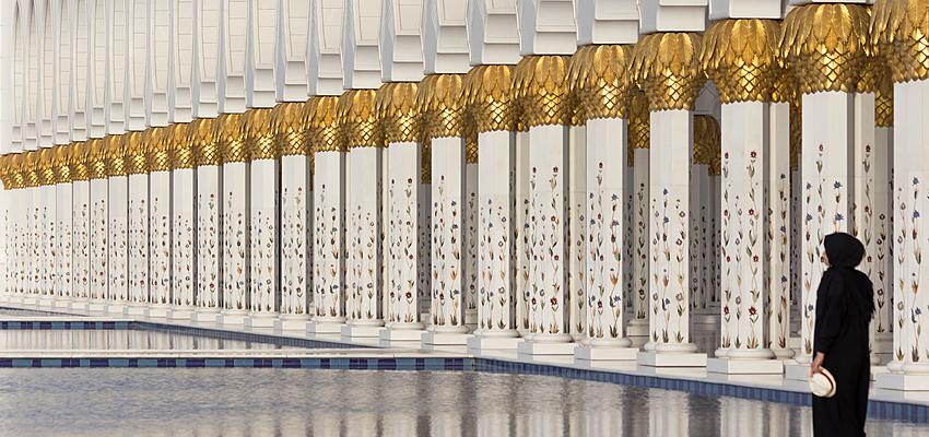 La Grande Mosquée Sheikh Zayed, à Abou Dabi