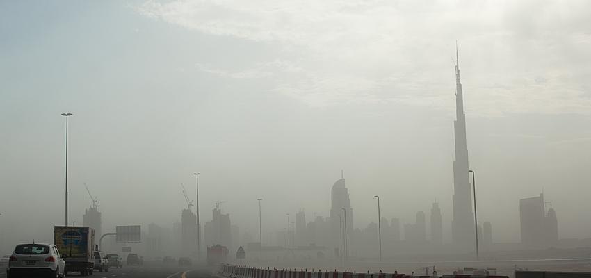 Une petite tempête de sable à Dubaï