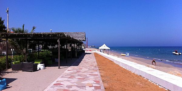 La plage au Nord de Fujairah