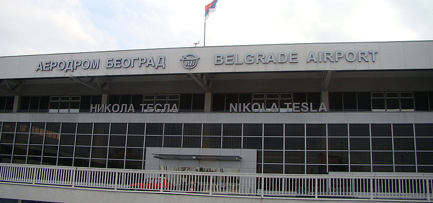 L'aéroport de Belgrade, Serbie