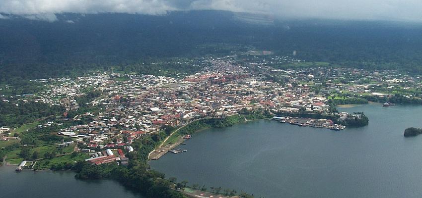 Vue aérienne sur Malabo
