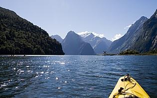 Kayak en Nouvelle-Zélande