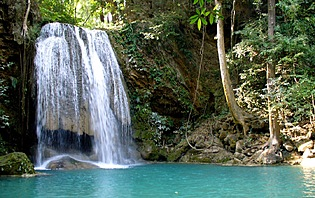Kanchanaburi, parc national d'Erawan.