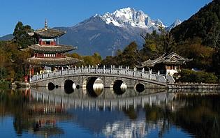 Black Dragon Pool park in Lijiang, Yunnan, China