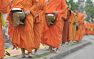 Retraite bouddhique.