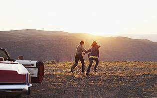 Couple sur la route