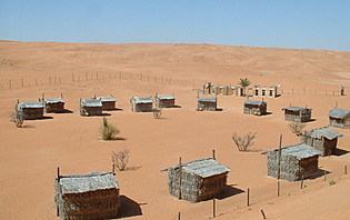 Campement hors des sentiers battus à Wahiba