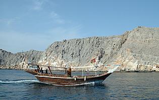 Dhow, bateau traditionnel à Musandam