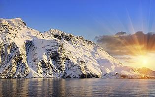 Couché de soleil en Islande