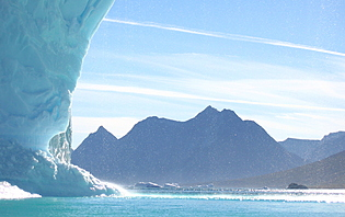Ice archway