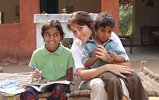 Moments de partage en Inde