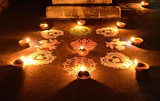 Bougies pour le Diwali
