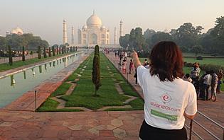 Lever de soleil sur le Taj Mahal