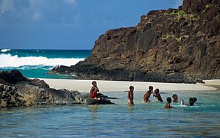 Plage de sable blanc Madagascar