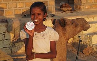 Enfant dans le désert du Thar