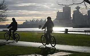 Ballade à vélo dans Vancouver