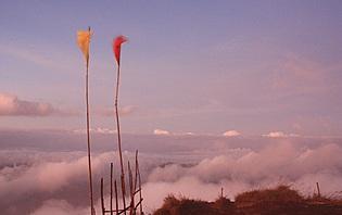 Au sommet du Mont Batur, vous régnerez en maître au dessus des nuages !