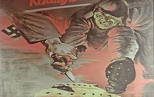 Affiche de propagande contre les envahisseurs lors de la seconde guerre mondiale