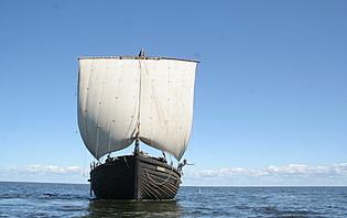 Embarcation traditionnel sur le Lake Peipsi