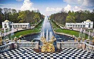 Fontaine à Saint-Pétersbourg, Russie