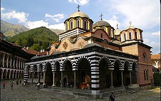Le monastère de Rila en Bulgarie