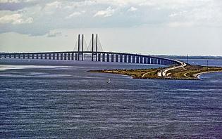 Danemark-Suède en un rien de temps, pont d'Øresund, Danemark