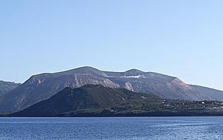 Le cratère Della Fossa, Sicile, Italie