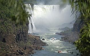 Dans les gorges d'Iguazù !