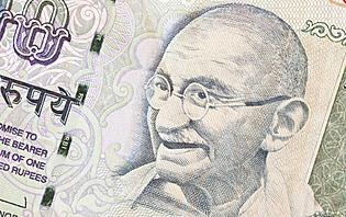Gandhi, roupies