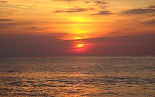 Destination romantique au coucher du soleil...