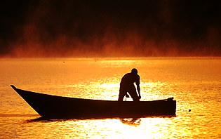 Pêcheur du lac Victoria