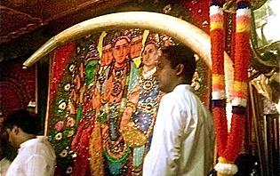 Une cérémonie hindouiste