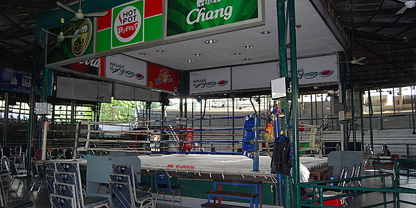 A big boxing ring in Bangkok