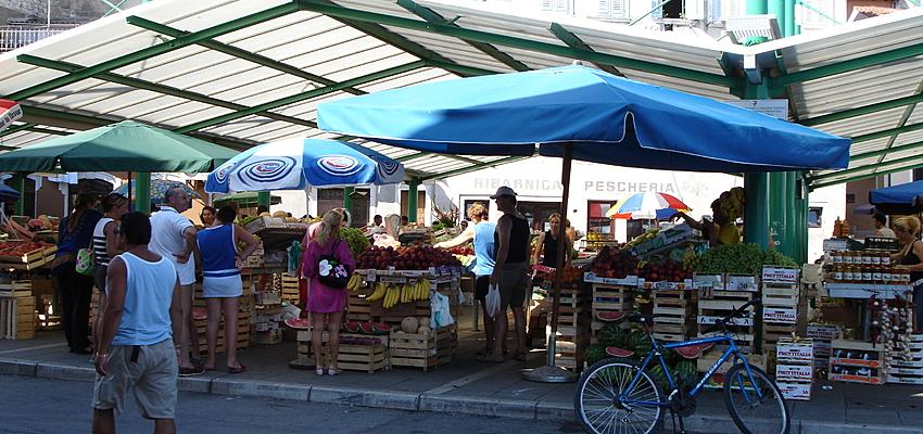A market in Croatia
