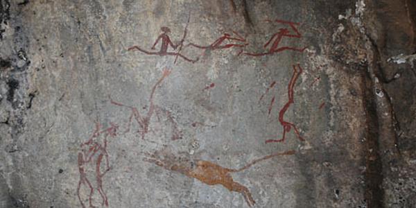 Peintures de Bushmen dans le Drakensberg
