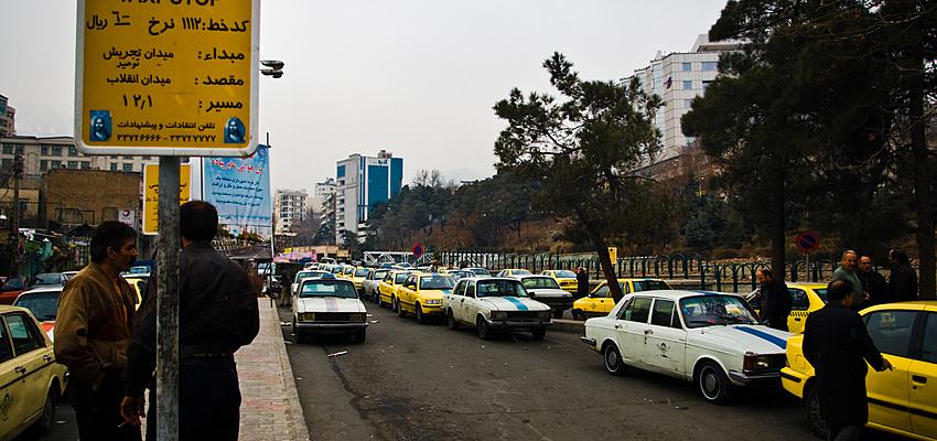 Stazione dei taxi, Tajrish, Téhéran