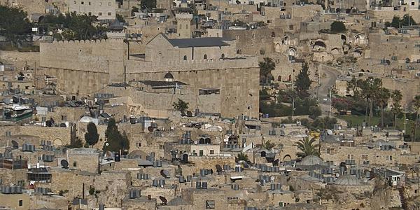 Vue sur la ville d'Hébron