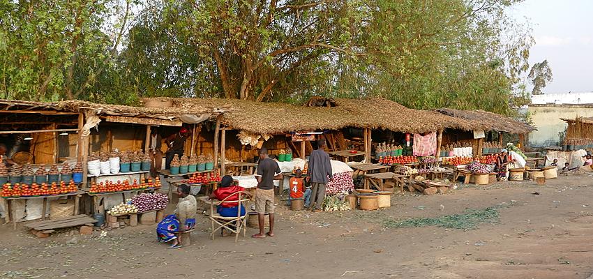 Un marché au Malawi