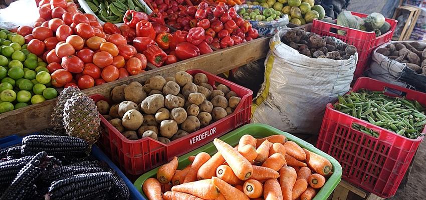 Sur un marché au Pérou