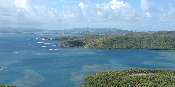 Vue sur la presqu'île de la Caravelle