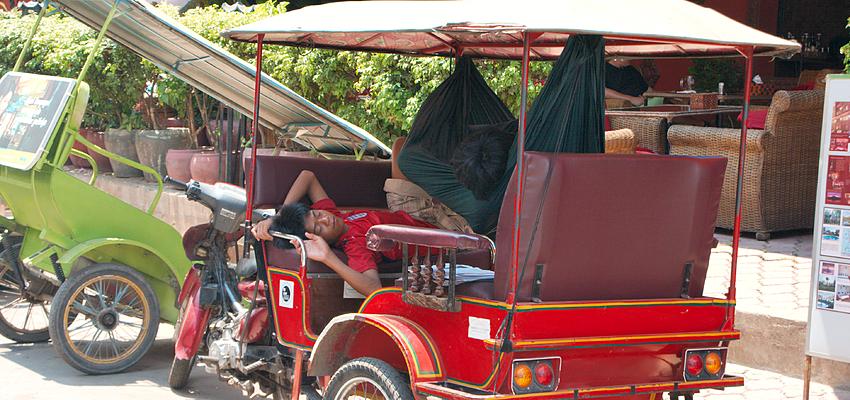 Tuk tuk a Phnom Penh
