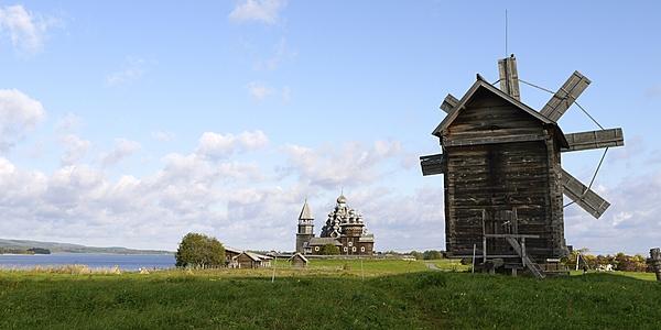 Viejo molino de viento, Isla de Kiji, Karelia