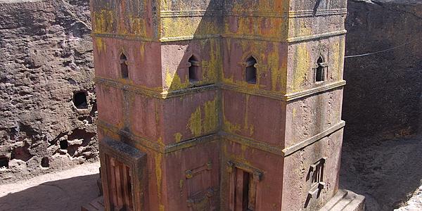 La fameuse église Bet Giyorgis (Saint Georges) de Lalibela