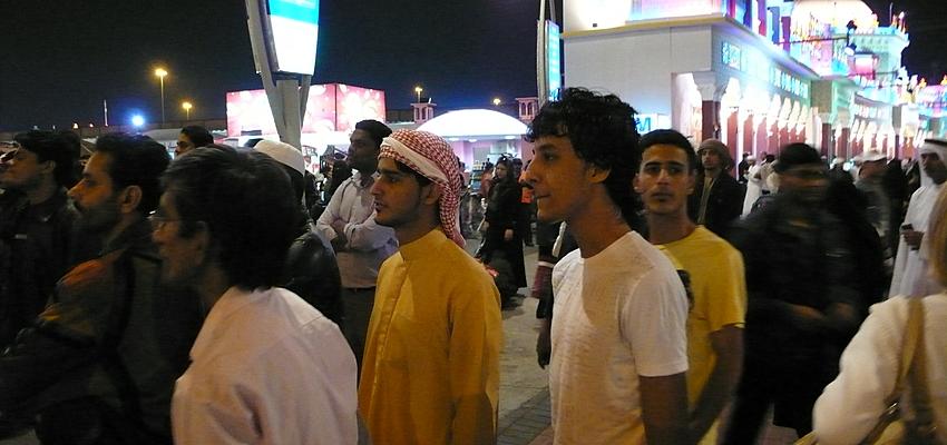 Foule à Dubaï