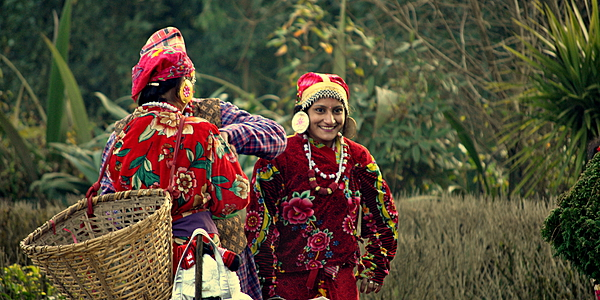 Gorkha women in traditional costume